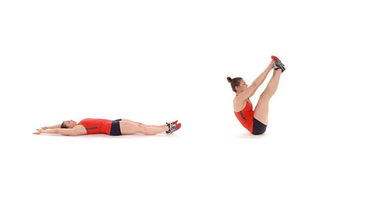 Cách thực hiện gập bụng thẳng chân.