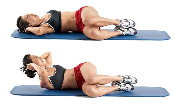 Gập bụng nghiêng giúp tập trung cho phần cơ liên sườn, eo