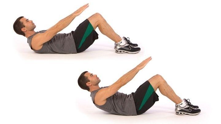 Long Arm Crunch giúp kéo căng cơ bụng của bạn