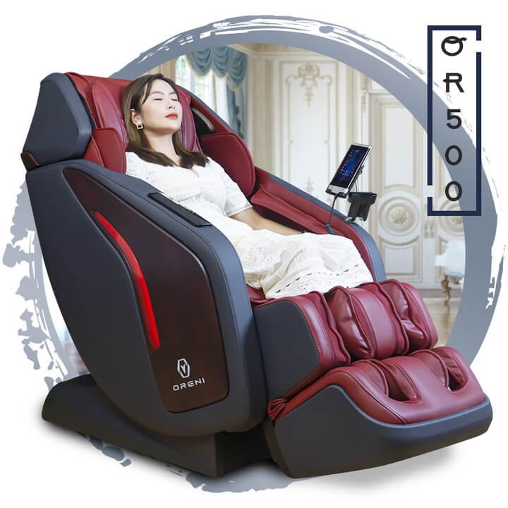 Ghế massage OR-500 là sản phẩm điểm nhấn của thương hiệu Oreni.