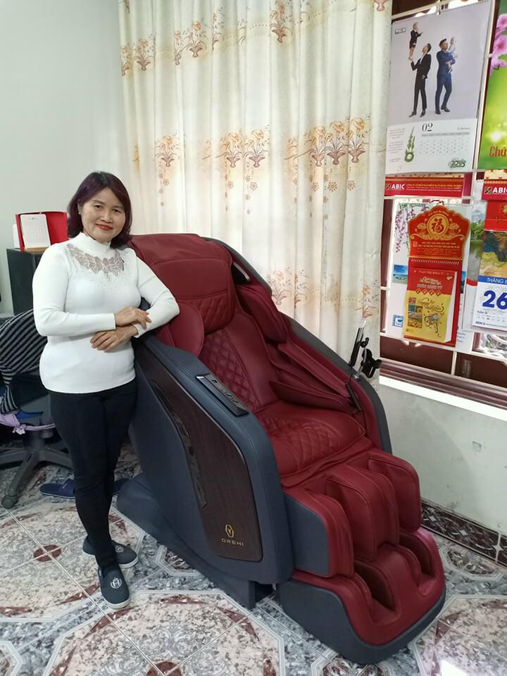 Sản phẩm ghế massage Oreni cam kết chính hãng 100%