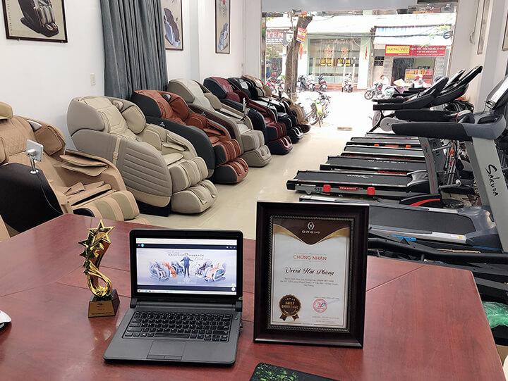 Hỉnh ảnh Showroom ghế massage Oreni Hải Phòng