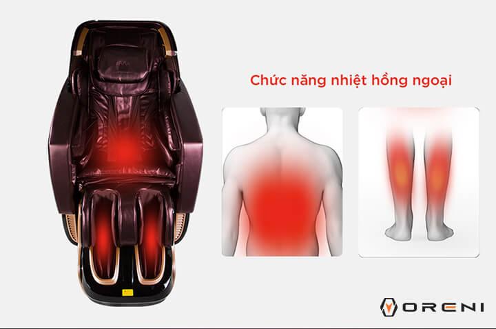 Hệ tiêu hoá và miễn dịch hoạt động tốt hơn khi dùng ghế massage toàn thân.