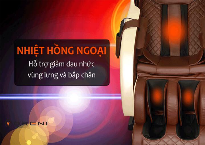 Ghế massage hồng ngoại có tác dụng trị liệu, điều trị bệnh hiệu quả.