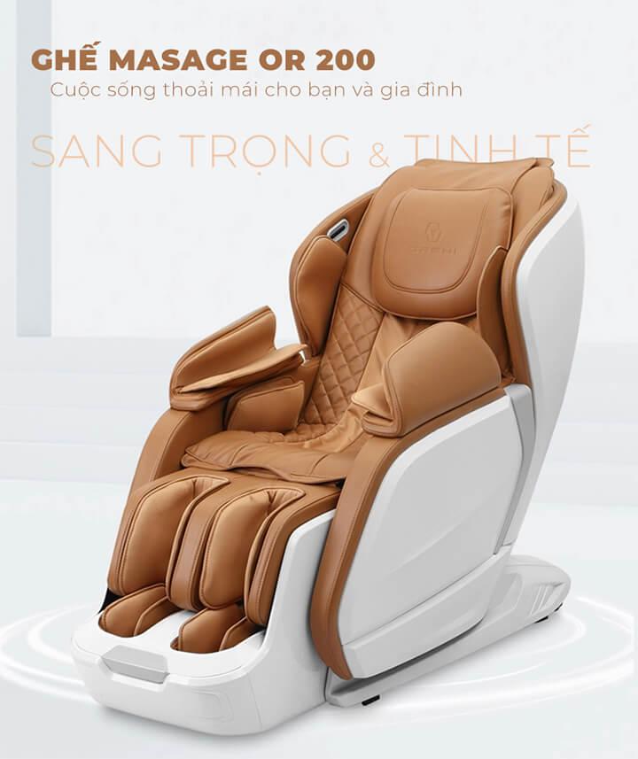 Giá bán ghế massage toàn thân OR-200 nằm trong phân khúc tầm trung, là xu hướng của nhiều người hiện nay
