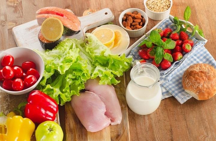 Sử dụng thực phẩm tươi, ít calo và nhiều chất xơ