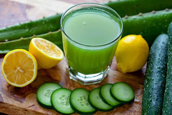 Detox giảm cân bằng dưa chuột với chanh là thực phẩm uống tốt cho sức khoẻ, giảm cân