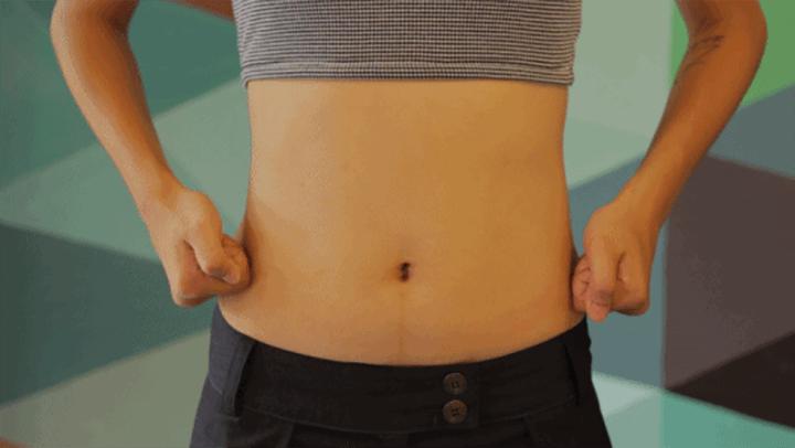 Cách massage bụng giảm mỡ bằng tay không.