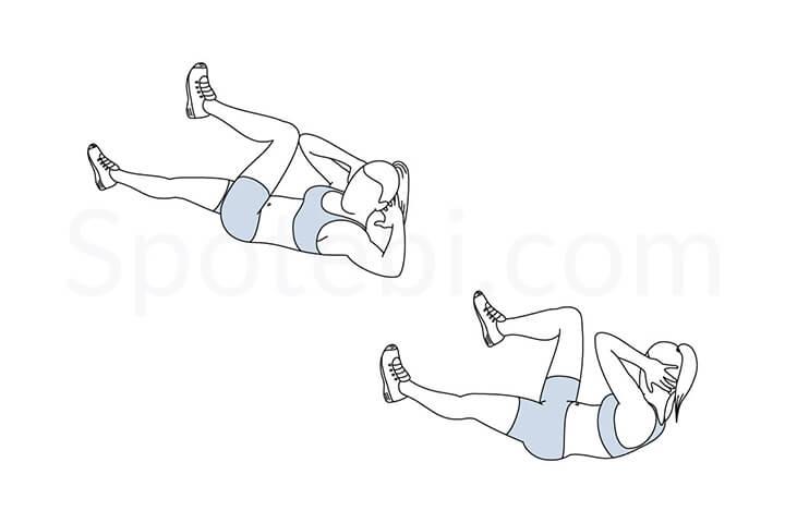Bài tập này không chỉ giúp giảm mỡ đùi nhanh mà còn giúp vòng bụng của bạn thêm săn chắc