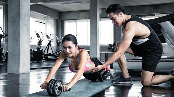 Có nhiều kiểu hít thở trong tập gym.
