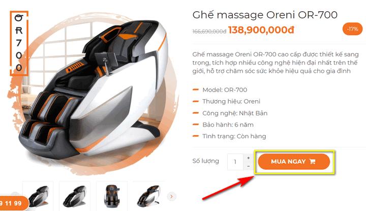 hướng dẫn đặt mua hàng tại oreni.vn