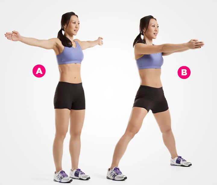 Bài tậpFront Clap Jumping Jack giúp rèn luyện cơ vai, tay
