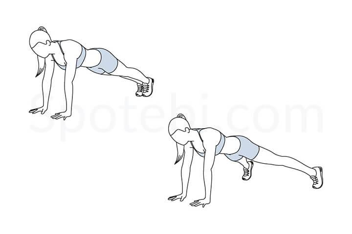 Bài tập Plank Jacks giúp đốt cháy mỡ bụng nhanh chóng