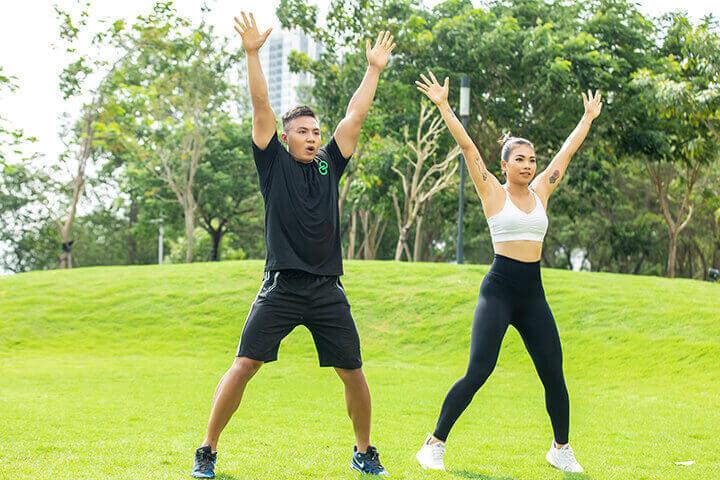 Tập luyện đều đặn giúp bạn giảm mỡ hiệu quả