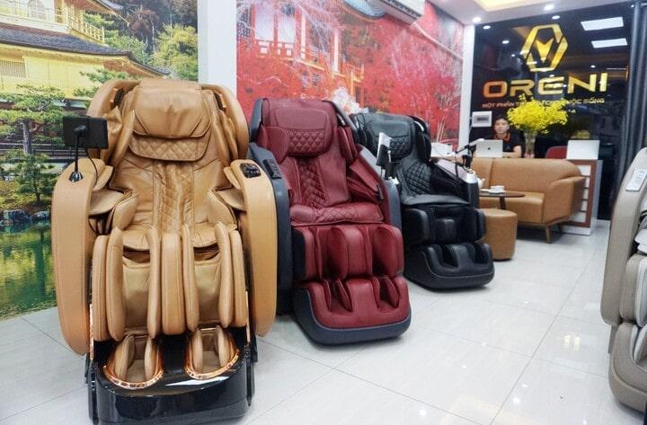 Oreni Bắc Ninh mang đến cho khách hàng nhiều lựa chọn ghế massage chất lượng cao