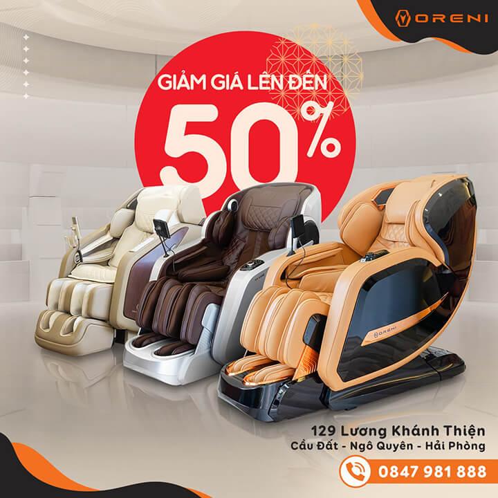 Giảm giá sâu các sản phẩm ghế massage toàn thân lên đến 50%