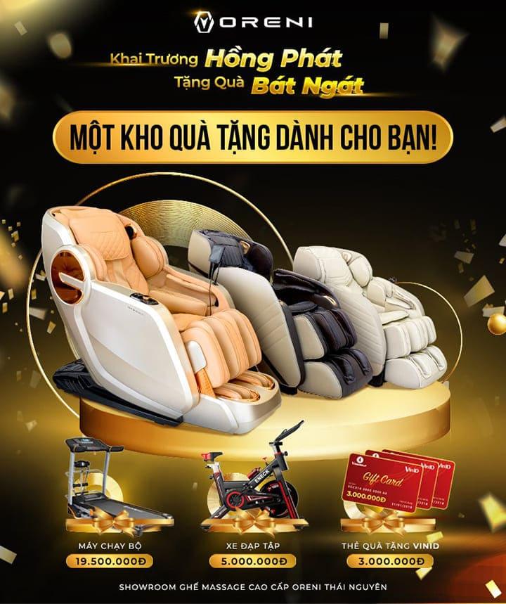 Mừng khai trương showroom ghế massage Oreni Thái Nguyên