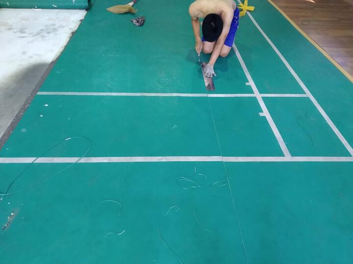 Cách vẽ sân cầu lông tiêu chuẩn
