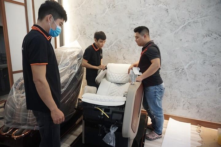 lắp đặt ghế massage tại Oreni Trường Chinh