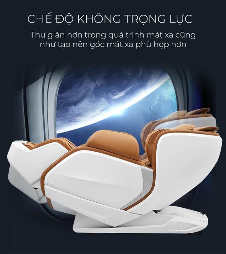 Sử dụng ghế massage cao cấp bạn sẽ được thư giãn hoàn toàn với tính năng massage không trọng lực.
