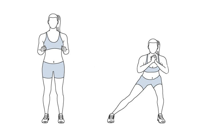Bài tập Side or lateral lunge