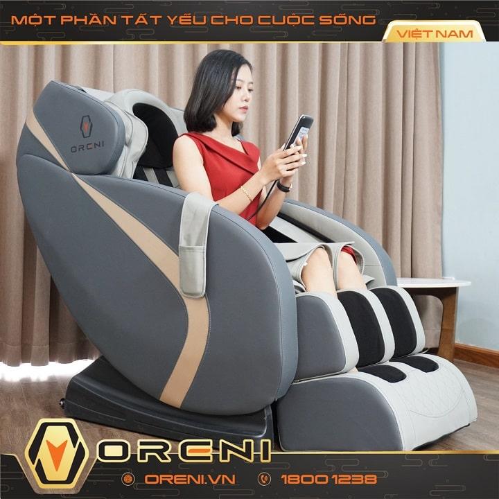 Ghế massage Oreni mang tiện ích đến gia đình bạn