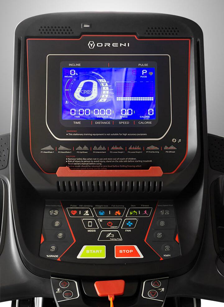 Bảng điều khiển của máy chạy bộ điện đa năng