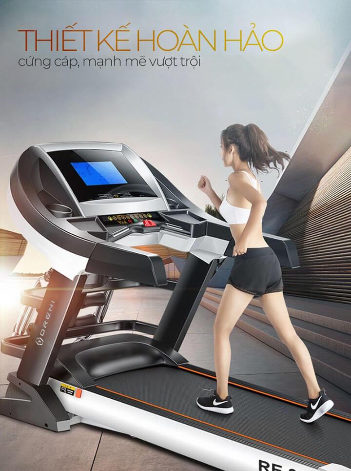 Máy chạy bộ Oreni được thiết kế hoàn hảo cứng cáp, mạnh mẽ