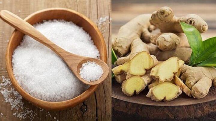 Muối và gừng giúp bạn giảm mỡ bụng an toàn tự nhiên