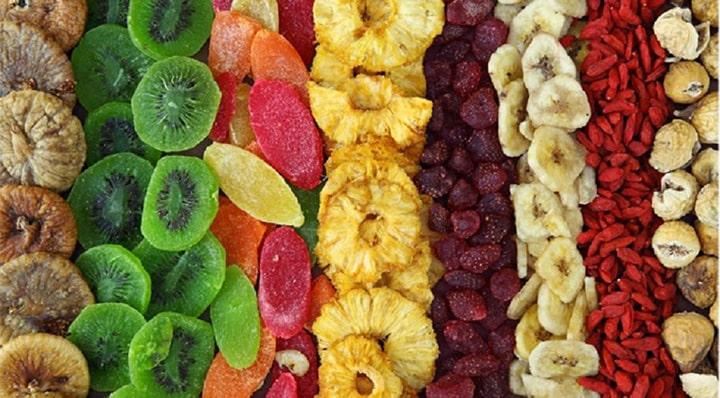 Trái cây sấy khô là nguồn cung các dưỡng chất thiết yếu rất tốt cho dân tập gym