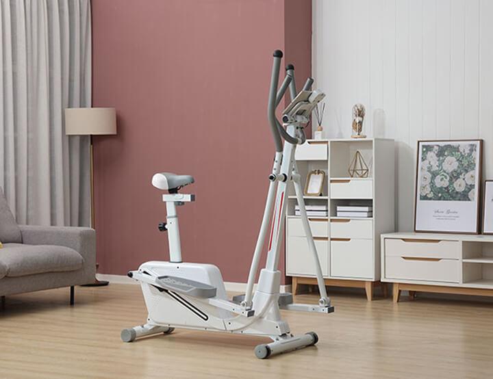 Xe đạp tập thể dục thiết kế nhỏ gọn rất phù hợp cho không gian gia đình
