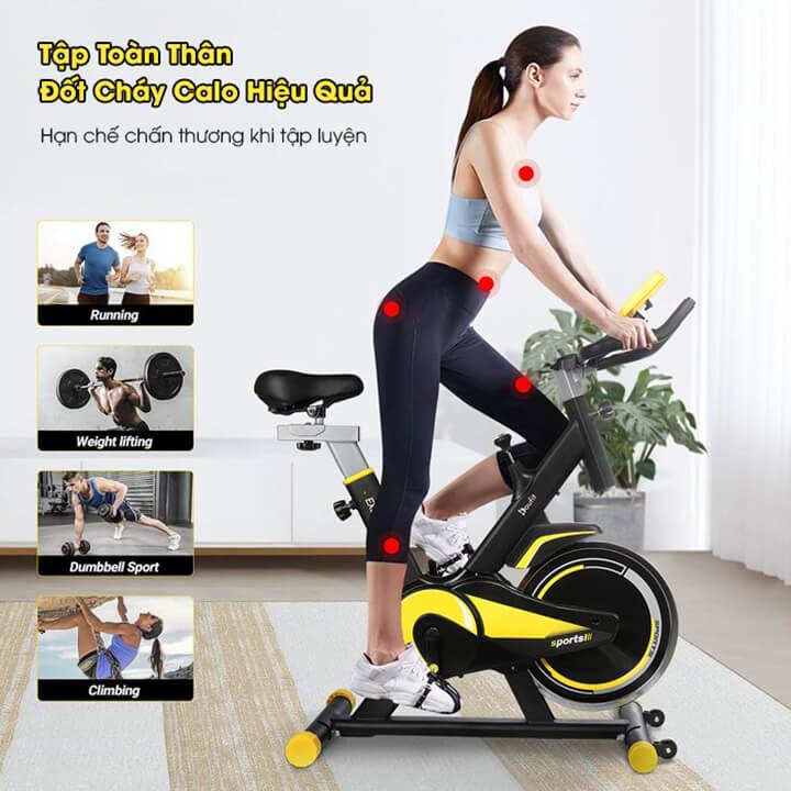 Sử dụng xe đạp tập thể dục mang lại nhiều lợi thế cho người dùng