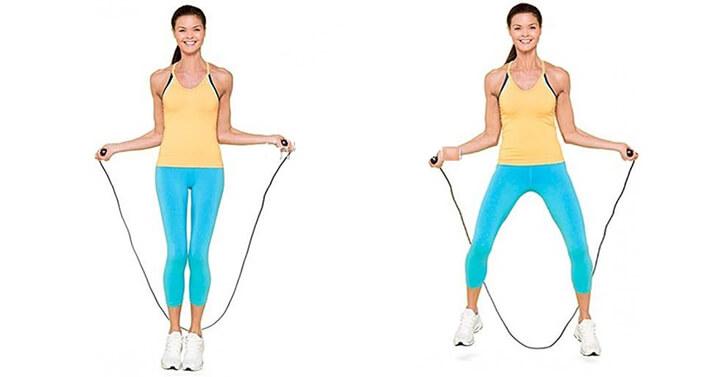 Nhảy dây xoạc chân kích thích nhiều hơn phần chân và khớp háng