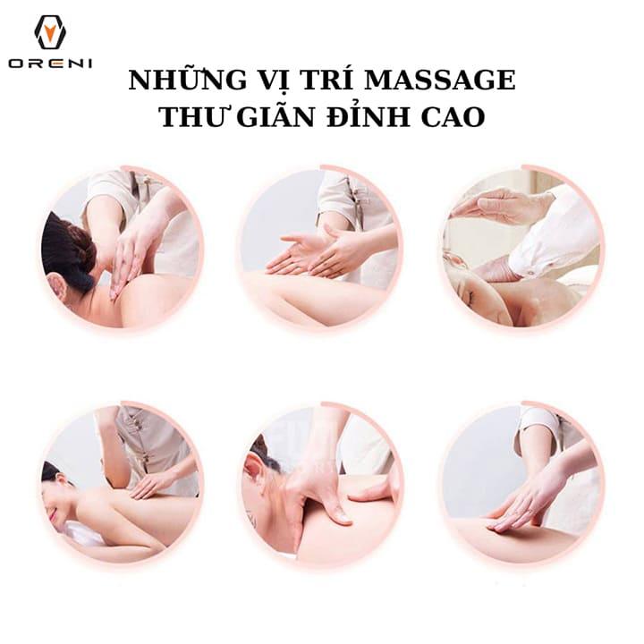 Những vị trí massage thư giãn đỉnh cao ngay tại nhà