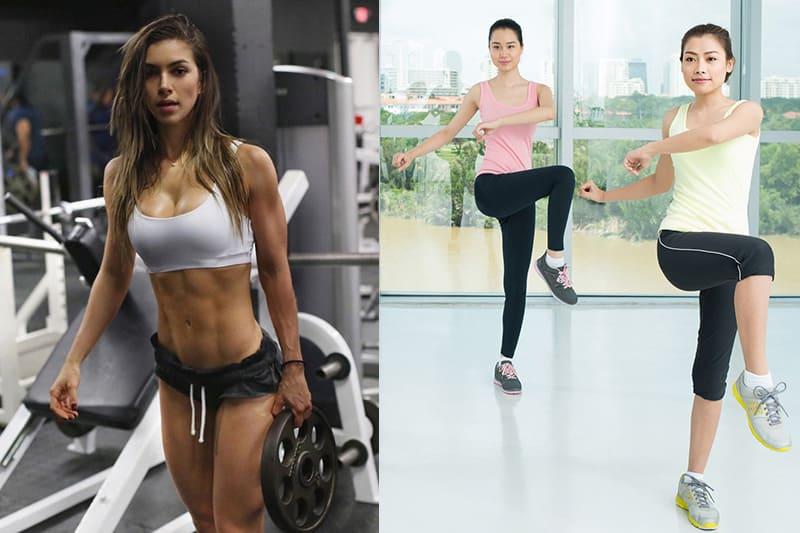 Nữ tập Aerobic hay Gym tốt hơn để giảm mỡ bụng, eo thon?
