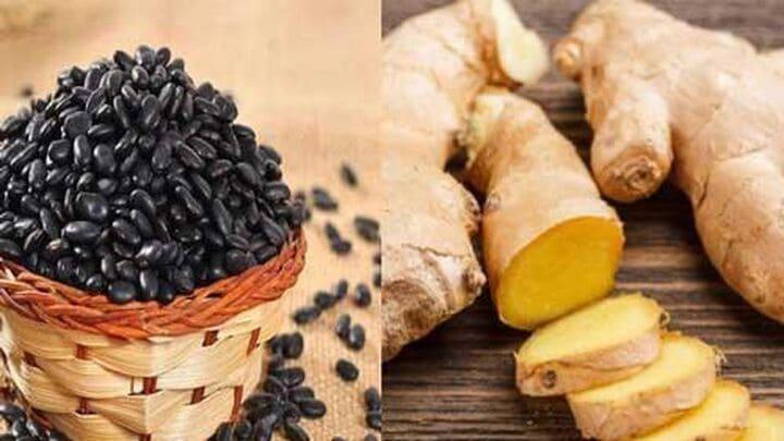 Nước đậu đen rang và gừng giúp giảm cân hàng ngày hiệu quả