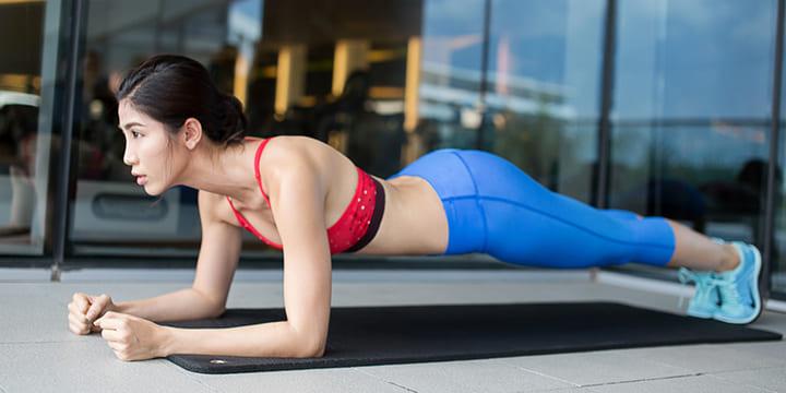 Plank là bài tập giảm mỡ bụng cực kì hiệu quả