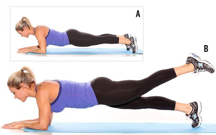 Bài tập Plank nâng chân