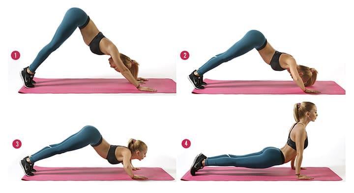 Bài tập Plank hít đất trườn lên