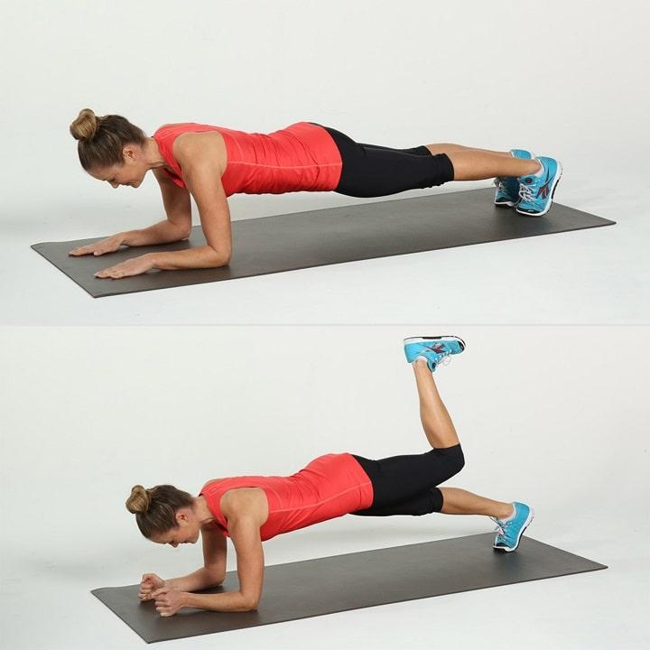 Plank bằng một chân giúp gia tăng sức bền