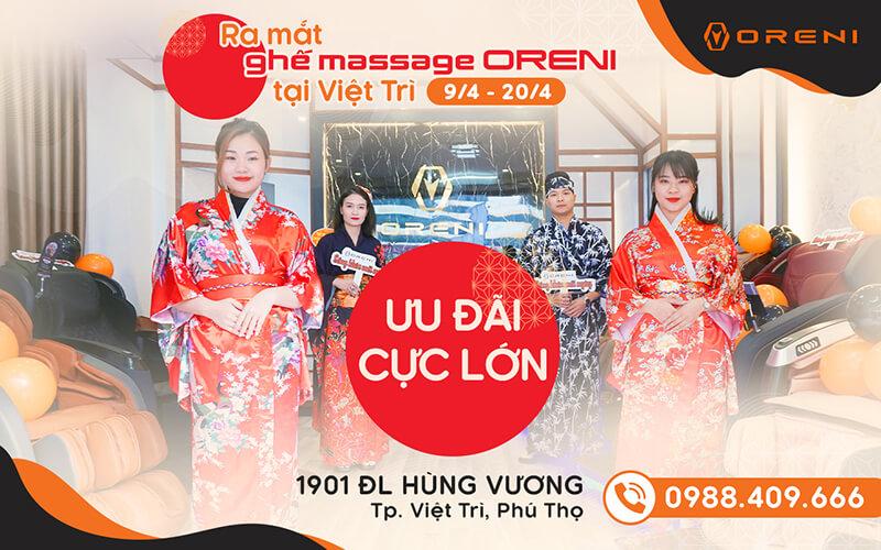 Ra mắt ghế massage Oreni Việt Trì - Săn deal vàng 9999