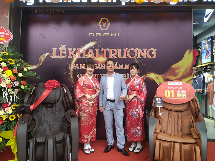 Một số hình ảnh lễ ra mắt ghế massage Oreni tại showroom Oreni Việt Trì, Phú Thọ