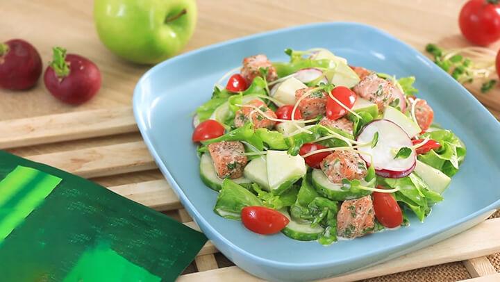 Món salad táo đơn giản, ngon miệng không sợ béo