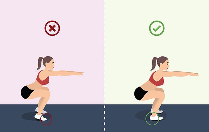 Squat là bài tạp mông giúp vòng 3 phát triển