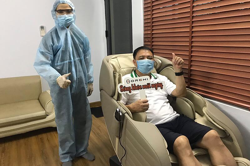 Ghế massage Oreni chăm sóc sức khoẻ trong mùa dịch Covid-19
