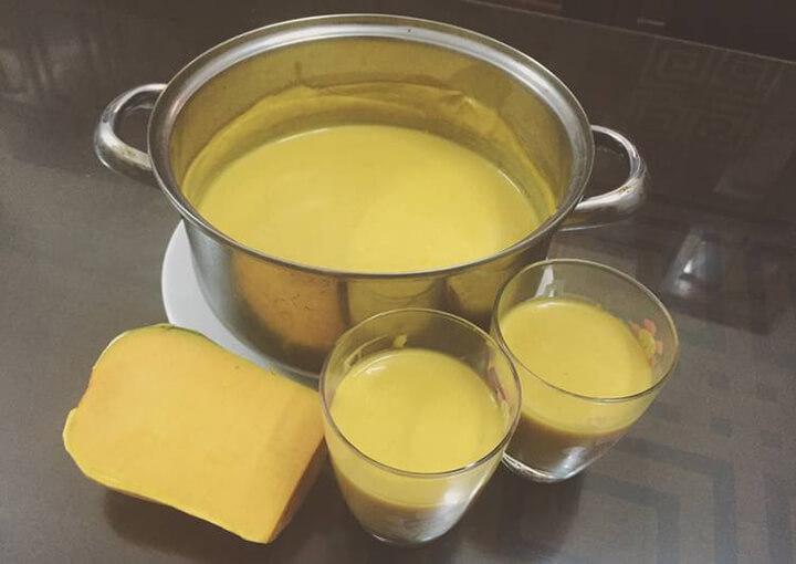 Sữa bí đỏ chứa nhiều chất xơ giúp giảm cân rất tốt