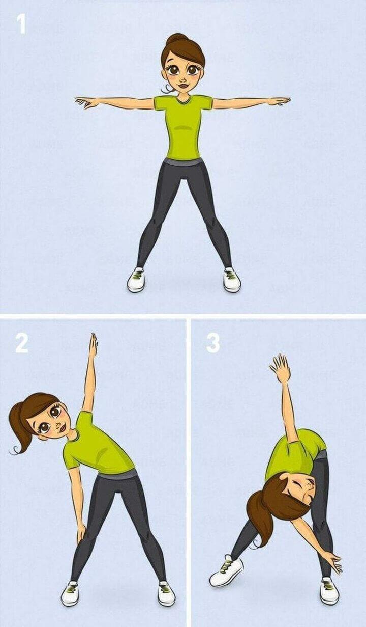 Tập giãn cơ lưng buổi sáng giúp hỗ trợ giảm cân
