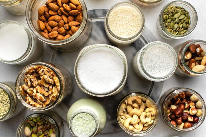 Sữa từ các loại hạt mang đến nguồn protein giá trị