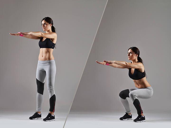 Tập Squat đều đặn giúp bạn có vòng 3 nở nang, quyến rũ.