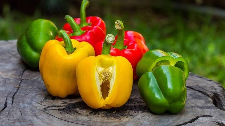 Vitamin C được tìm thấy có nhiều trong ớt chuông